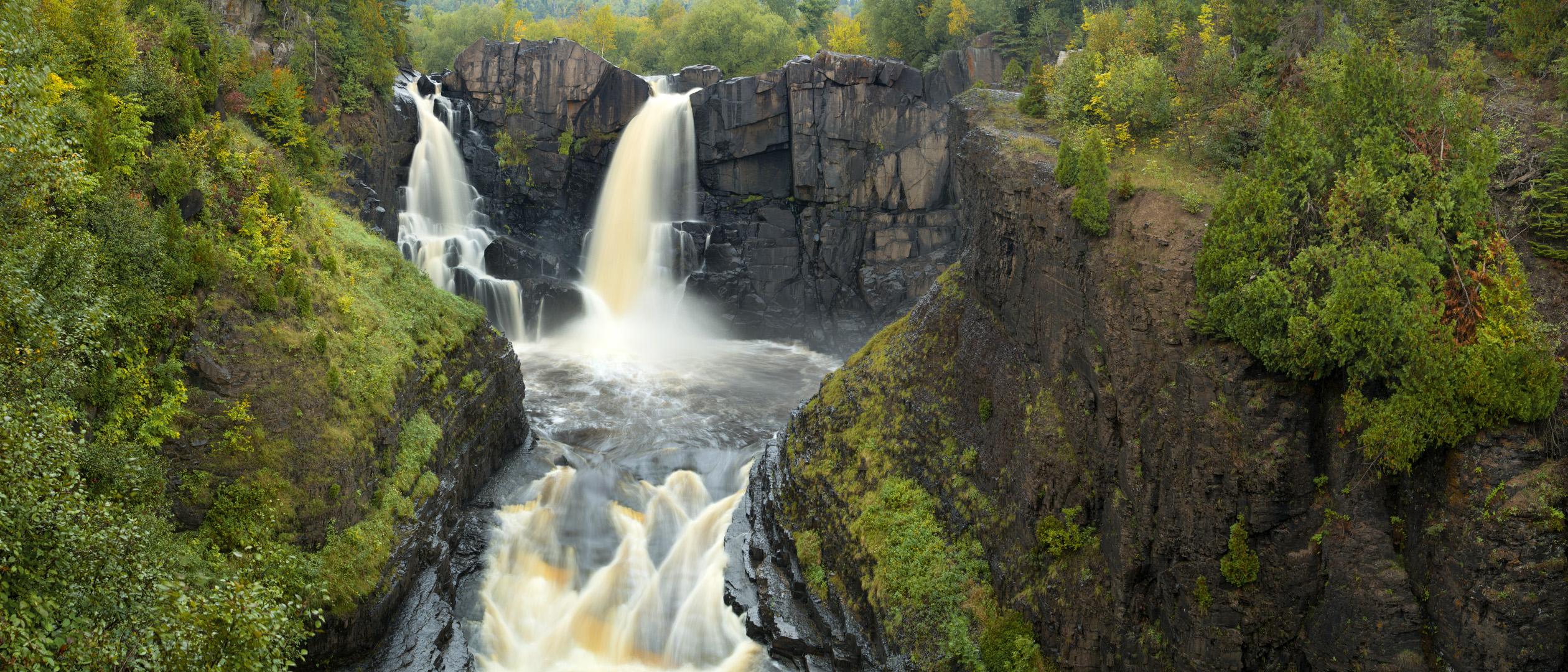 Multiple Waterfalls on Pigeon River.